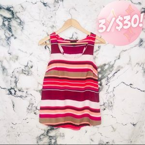 💖3/$30💖 Mossimo Block Striped Flowy Racer Back Tank Top Pink